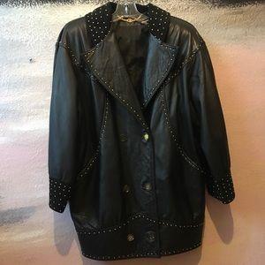 222d7b74143c 80s vintage authentic Gucci leather jacket RARE